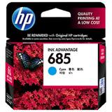 HP Cyan Ink Cartridge 685 [CZ122AA] - Tinta Printer Hp